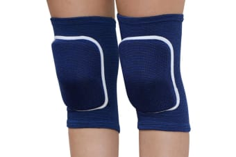 Select Mall Children's Sports Dance Knee Protector with Thickened Sponge Protector Sports Knee Pads-Blue M