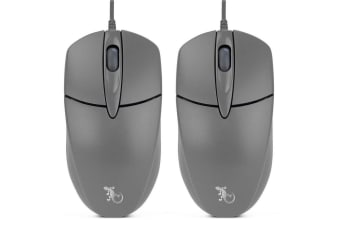 2x Gecko 3 Button Optical Mouse
