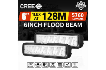 DEFEND DEFEND Pair 6 inch CREE FLOOD LED Work Light Bar Reverse Driving Lights 4WD
