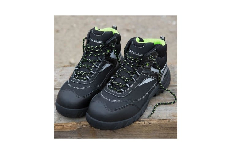 Result Workguard Mens Blackwatch Lace-Up Safety Boots (Black/Silver) (9 UK)
