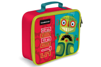 Crocodile Creek Robot Lunchbox/Carry Lunch Bag/Storage for Kids/Children Red/GRN