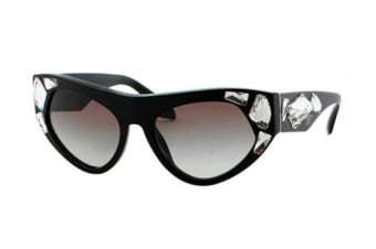 Prada CINEMA PR21QS - Black (Grey Gradient Blue lens) Womens Sunglasses