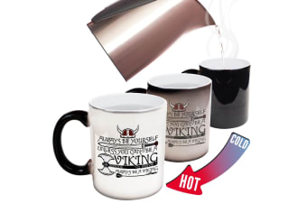 123T Funny Colour Changing Mugs - Always Be Yourself Viking