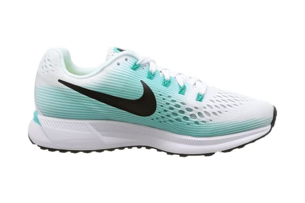 66a2791e42a Nike Women s Air Zoom Pegasus 34 Running Shoe (White Black Aurora Green