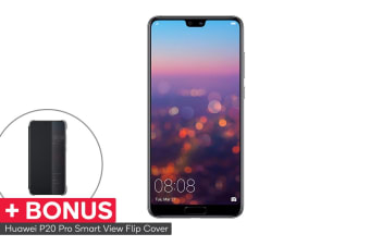 Huawei P20 Pro Dual SIM with BONUS Smart View Flip Cover (128GB, Twilight)