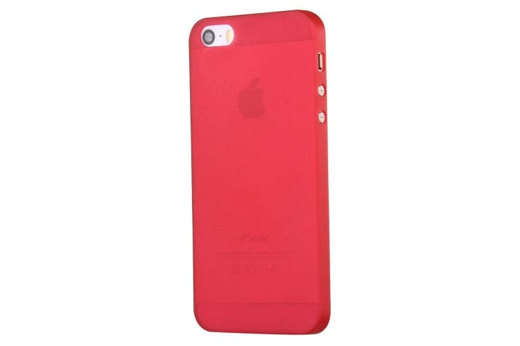 For iPhone SE 5S 5 Case Smart Transparent High-Quality Shielding Cover Red