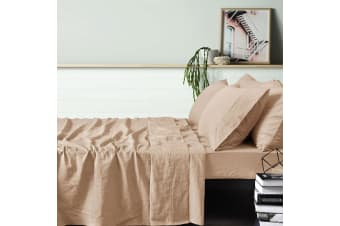 100% Linen Birch Sheet Set SUPER KING