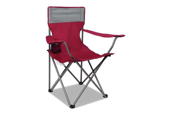 Set of 2 Portable Folding Camping Arm Chair (Wine Red)