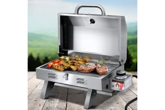 Portable Gas BBQ Grill Stove Oven Stainless Steel Outdoor Camping