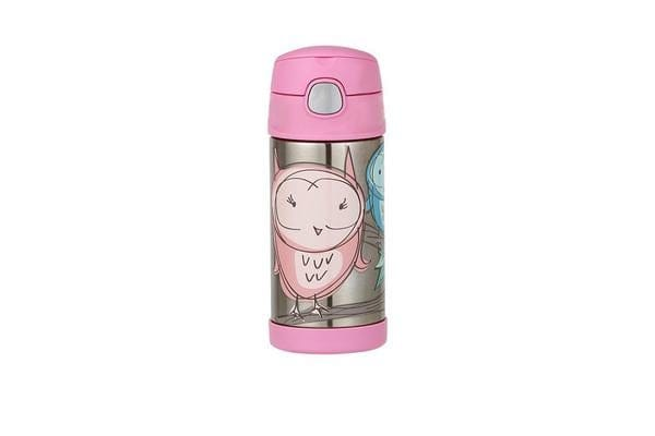 Thermos Funtainer S/S Vacuum Insulated Drink Bottle 355ml Owl