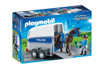 Playmobil Police with Horse and Trailer