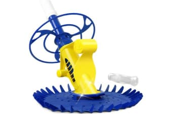 Aquabuddy Swimming Floor Vacuum Pool Cleaner with 10M Hose Yellow Blue