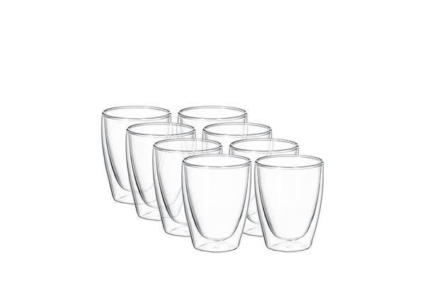 Avanti Cafe Twin Wall Glass 250ml Set of 8