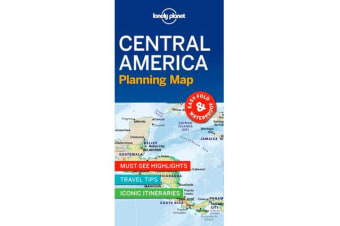 Lonely Planet Central America Planning Map