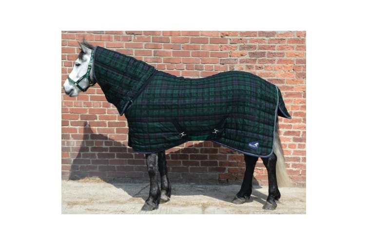 Masta Quiltmasta 200g Stable Rug With Fixed Neck (Navy Check) (4 ft 9)