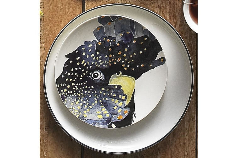 Ecology Paradiso 20cm Fine China Side Plate Kitchen Table Dinner Dish Cockatoo
