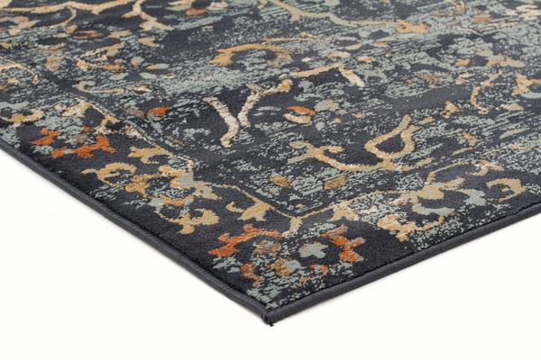 Mayfair Stem Navy Runner Rug 300X80cm