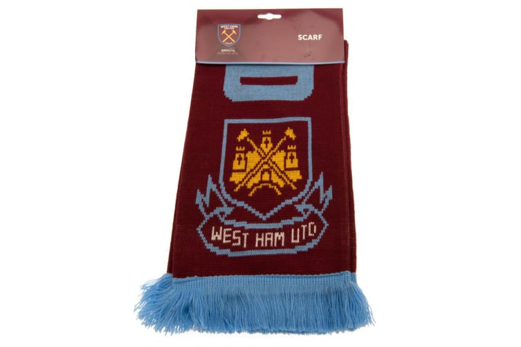 West Ham United FC Hammers Scarf (Claret/Blue) (One Size)