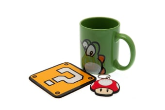 Super Mario Mug And Coaster Set (Multicoloured)