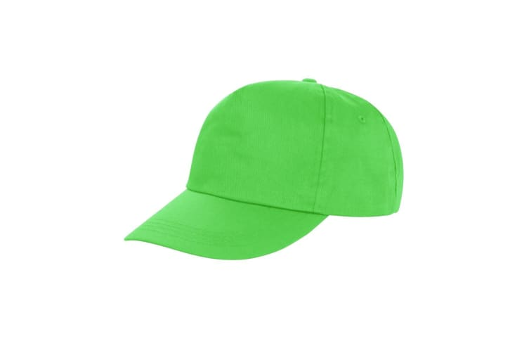 Result Unisex Core Houston 5 Panel Printers Baseball Cap (Pack of 2) (Lime) (One Size)