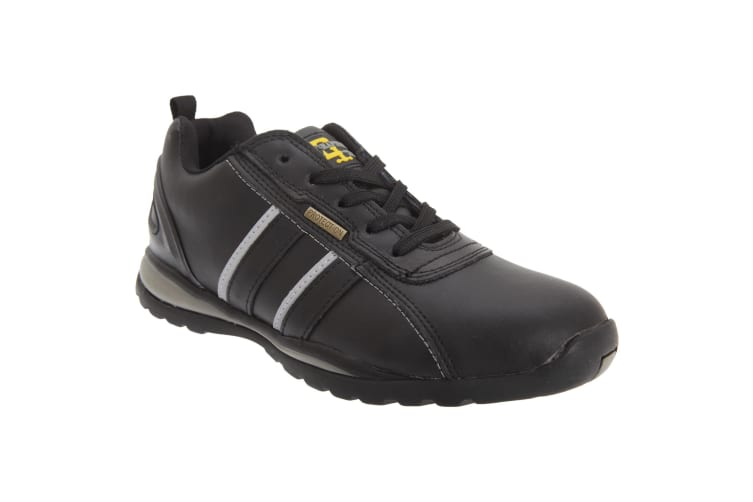 Grafters Mens Safety Toe Cap Trainer Shoes (Black/Grey Action) (9 UK)