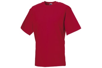Russell Europe Mens Workwear Short Sleeve Cotton T-Shirt (Classic Red) (2XL)