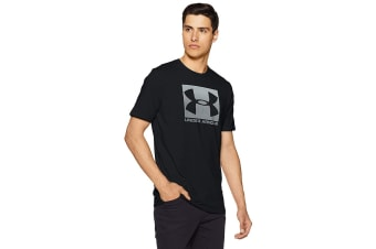 Under Armour Men's Boxed Sportsyle T-Shirt (Steel Light Heater/Black)