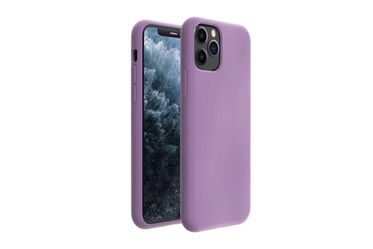ZUSLAB iPhone 11 Pro Max Case Nano Silicone Shockproof Gel Rubber Bumper Protective Cover for Apple - Purple