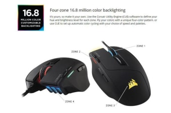 Corsair 'SABRE' RGB Gaming Mouse 1000 dpi. 8 Programmable Buttons
