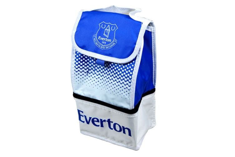 Everton FC Official Football Fade Crest Lunch Bag (White/Blue) (One Size)