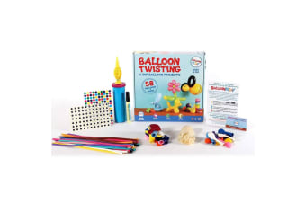 Balloon Play Kit Twisting DIY w/Pump/Stickers & APP/Videos for Apple/Android