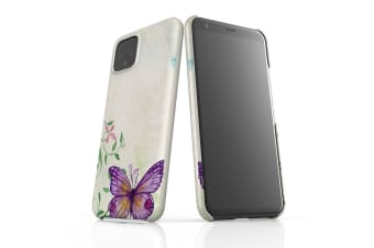 For Google Pixel 4 Snap Case Lightweight Protective Slim Cover Retro Butterfly