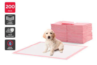 Pawever Pets 200 Pack Puppy Training Pads (Pink)