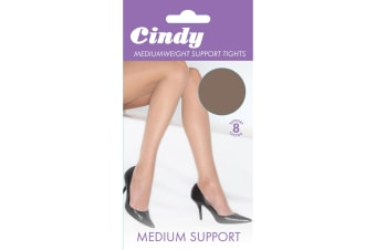 Cindy Womens/Ladies Mediumweight Support Tights (1 Pair) (Paloma Mink)