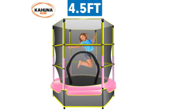 Kahuna Mini 4.5 ft Trampoline Yellow Pink