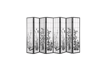 Levede 8 Panel Room Divider Privacy Screen Wood Timber Bed Wider Foldable Stand