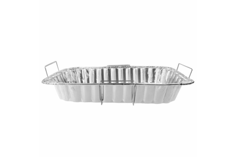 6x Foil Container Tray Food Wire Handles Roasting BBQ Dish Takeaway Oven