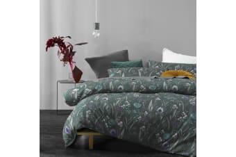 Melrose Green Quilt Cover Set by Big Sleep