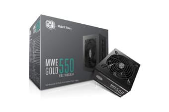 Cooler Master MWE Gold 550W 80Plus Gold Full Modular Power Supply 5 Years warranty