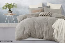 Gioia Casa Jersey Cotton Quilt Cover (Grey Marble)