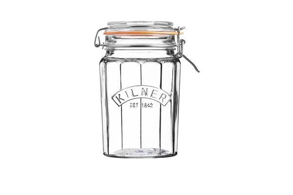 Kilner Faceted Clip Top Jar 950ml