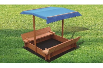 Wooden Toy Sand Pit with Canopy