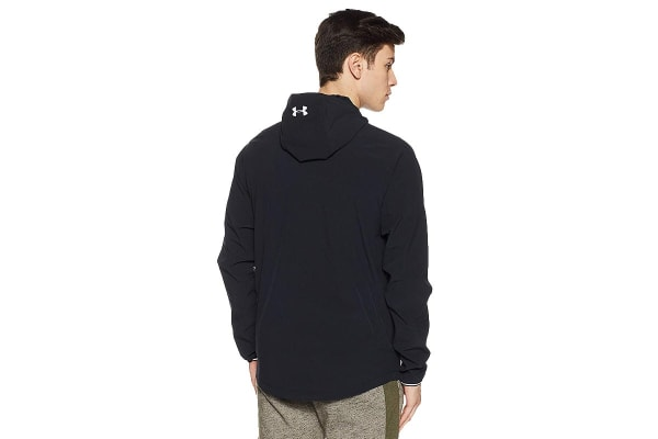 Under Armour Men's Outrun The Storm Jacket (Black/Reflective, Size Extra Large)