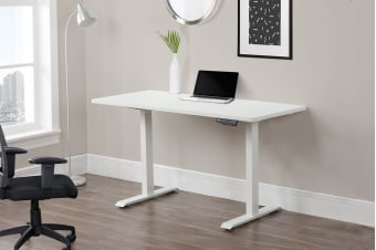 Ergolux Electric Height Adjustable Sit Stand Desk (140 x 70 cm)