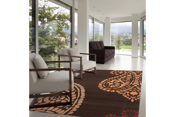 Funky Paisley Design Rug Brown 230x160cm