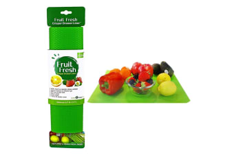 2pc Fruit Fresh Crisper Drawer Liner Vegetable Saver Refrigerator Mat Set Green