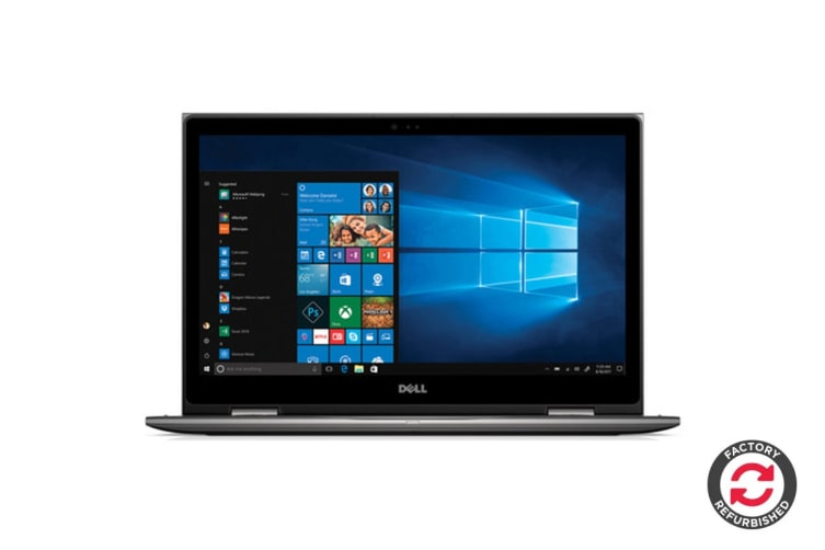 "Dell Inspiron 15 5579 15.6"" Convertible 2-in-1 Touch Screen Laptop (i5-8250U, 8GB RAM, 1TB, Gray) - Certified Refurbished"