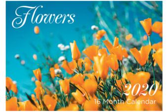 Flowers - 2020 Rectangle Wall Calendar 16 Months by Artwrap (B)