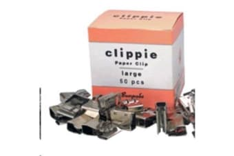 Clippie Slide Paper Clips - Large - Box of 50