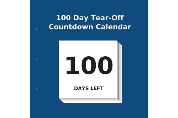 Image of 100 Day Tear-Off Countdown Calendar